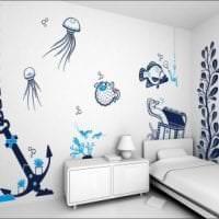 красивый трафарет в дизайне комнаты фото