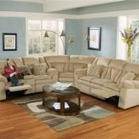 красивый угловой диван в стиле квартиры фото