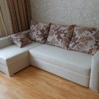 кожаный угловой диван в стиле гостиной фото