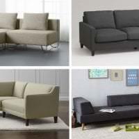 темный угловой диван в интерьере прихожей фото