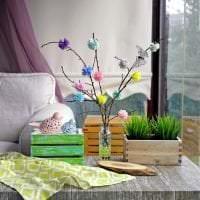 яркий весенний декор в интерьере детской картинка