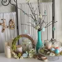 красивый весенний декор в дизайне кухни картинка