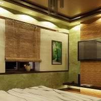 шторы с бамбуком в интерьере коридора картинка