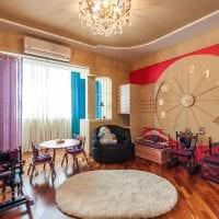 деревянные часы в коридоре в стиле хай тек фото