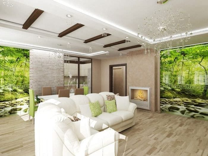 Интерьер квартиры в натуральном стиле
