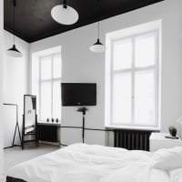 красивый черный потолок в дизайне дома картинка