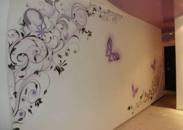 необычные бабочки в дизайне кухни