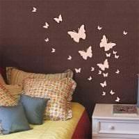 красивые бабочки в дизайне кухни фото