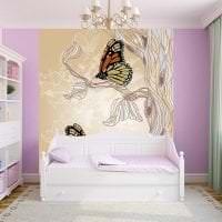 необычные бабочки в интерьере комнаты картинка