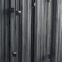 светлые шторы нити в дизайне спальни картинка