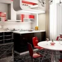 светлый дизайн кухни в цвете фуксия картинка