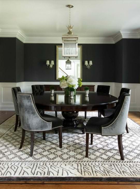 необычный дизайн комнаты в черном цвете
