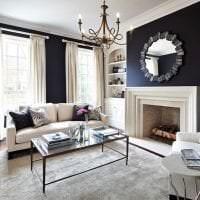 необычный интерьер комнаты в черном цвете фото