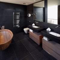 необычный дизайн квартиры в черном цвете картинка