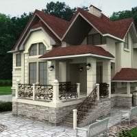 необычный стиль дачи в архитектурном стиле картинка