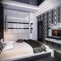 яркий стиль коридора в черно белом цвете фото