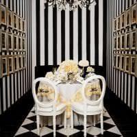 шикарный декор гостиной в черно белом цвете картинка