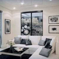 яркий декор гостиной в стиле эклектика картинка
