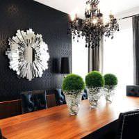 необычный дизайн кухни в черном цвете картинка