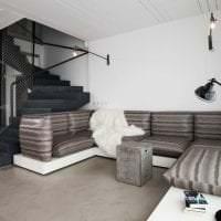 красивый стиль гостиной в черно белом цвете картинка