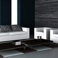 яркий стиль спальни в черно белом цвете картинка