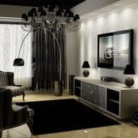 необычный декор коридора в черном цвете фото