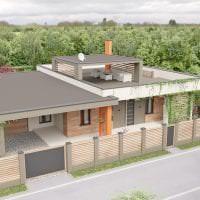необычный дизайн загородного дома в архитектурном стиле картинка