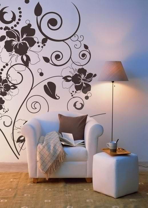 Трафареты для рисунки на стенах квартир своими руками 558