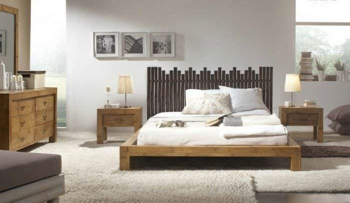 мебель с бамбуком в дизайне спальни