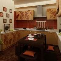 мебель с бамбуком в интерьере комнаты картинка