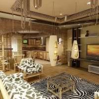 шторы с бамбуком в стиле кухни фото
