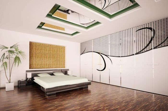 мебель с бамбуком в стиле коридора