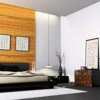 шторы с бамбуком в стиле кухни картинка