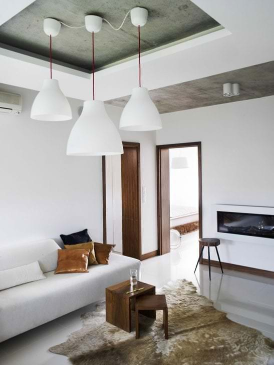 отделка потолка с бетоном в квартире