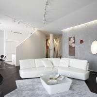 дизайн потолка с раствором бетона в спальне фото
