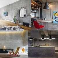 дизайн потолка с раствором бетона в доме фото