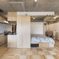 стиль потолка с бетоном в спальне фото