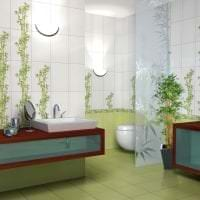 шторы с бамбуком в интерьере комнаты картинка