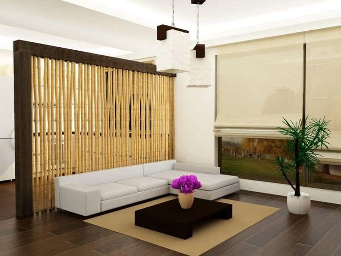 Дизайны комнат с ширмой