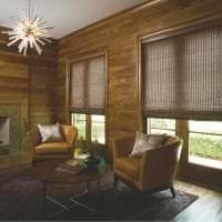 жалюзи с бамбуком в стиле спальни фото