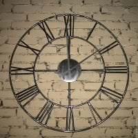 пластиковые часы в прихожей в стиле эко фото