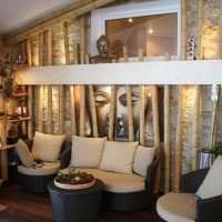 мебель с бамбуком в интерьере коридора фото