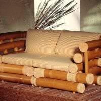 шторы с бамбуком в интерьере кухни картинка