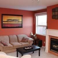 светлый терракотовый цвет в стиле коридора картинка