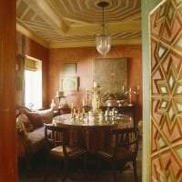 светлый терракотовый цвет в дизайне спальни фото