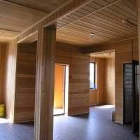 отделка вагонкой ярком интерьере комнаты из алюминия