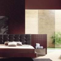 красивый цвет марсала в дизайне спальни фото