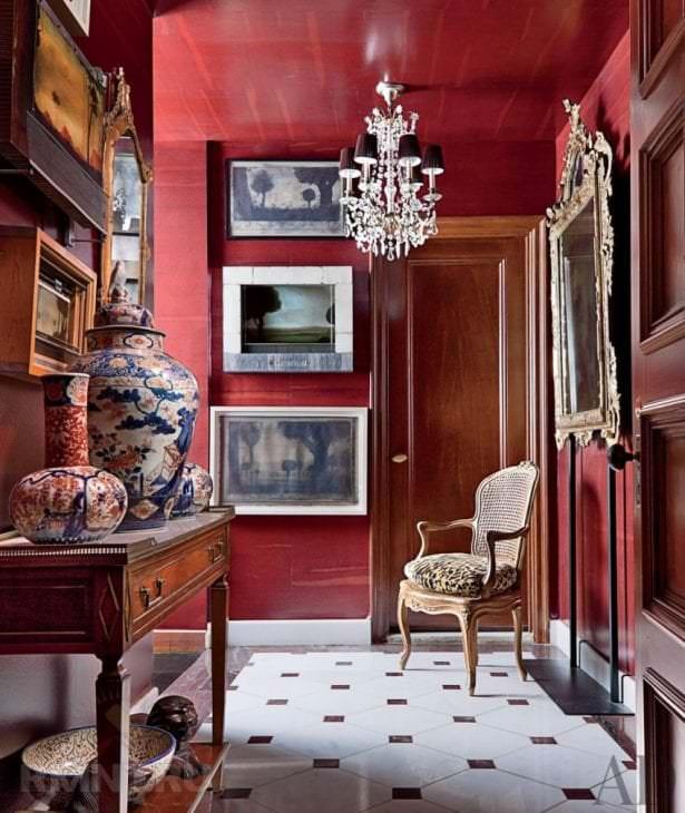 шикарный цвет марсала в стиле спальни