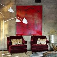 яркий цвет марсала в интерьере комнаты картинка