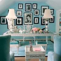 красивый цвет тиффани в декоре кухни картинка